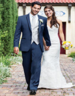 Modern Aspen Slim Fit Groom Tuxedo Slate Blue Notch Lapel Wedding Groomsman Suit Two Buttons Three Pockets (jacket+pants+vest)