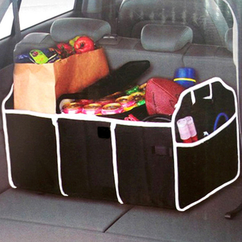 VODOOL Car Organizer Trunk Collapsible Toys Food Storage Truck Cargo Container Bags Box Black Car Stowing Tidying Accessories image