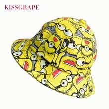 58e4aea547f Summer Baby boys kids bucket hats minions caps children s cartoon beach hats  girls pink cat cap kawaii hats baby spring casque