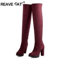 New 2014 Plus Size Autumn Winter Women S Shoes Knee Boots Autumn Boots Sapatos Femininos High