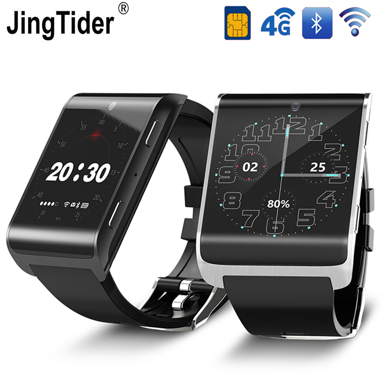 все цены на JT2018 Smart Watch 4G LTE Bluetooth Wristwatch 16GB Rom 1GB Ram 900mAh 1.54
