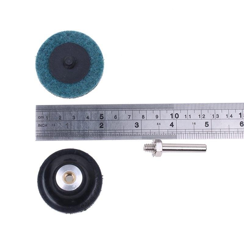 35 discos de lijado de 5 cm con soporte de almohadilla de disco Roloc cambio r/ápido de tipo R