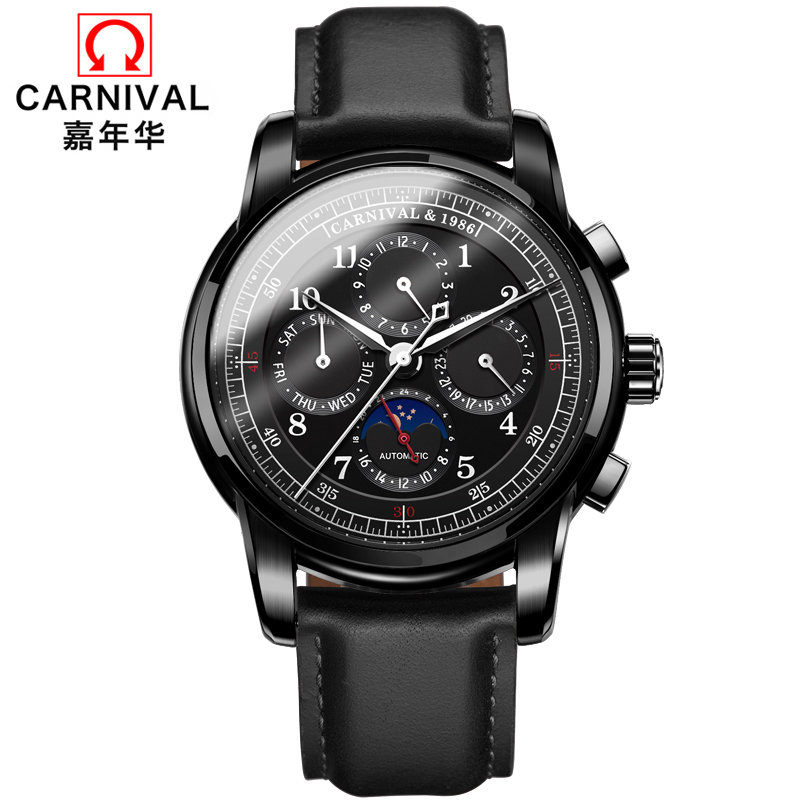 watch automatic men erkek kol saati mekanik otomatik moon phase montre homme mecanique mechanical man watches luxury brand