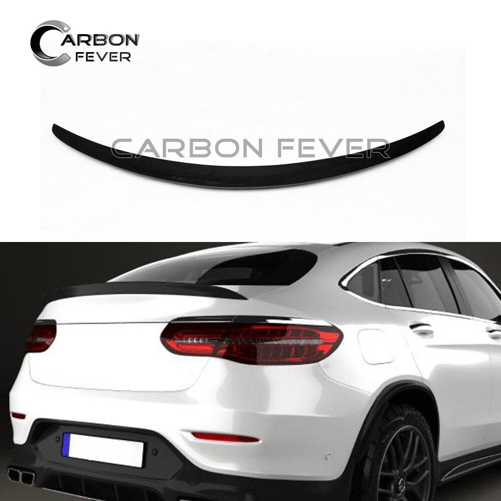 Carbon Fiber Mercedes Benz C207 Coupe 2D High Kick V Trunk Spoiler E400 E550