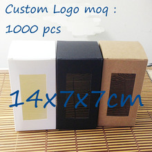 Diy Wholesale White Kraft /Black Window Box Cake Candy Gift Box Display Packing Wedding  Favour  Box Custom Logo Cost Extra