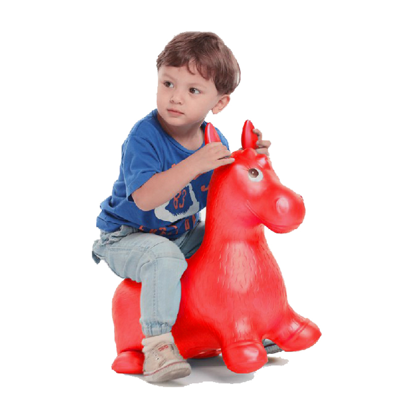 Inflatable Jumping Horse Ride-on Bouncy Hopper Toys Extra Thickness Toy for Kids Random  ...