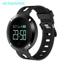 DM-58 Bluetooth Спорт браслет сердечного ритма Смарт часы Приборы для измерения артериального давления Мониторы IP68 Водонепроницаемый сердечного ритма для Xiaomi PK Amazfit