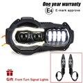Nieuwe Collectie! motorfiets LED Koplampen Projector voor BMW R1200GS 2004-2012 R 1200GS ADV Adventure 2005-2013 Moto Lichten Montage