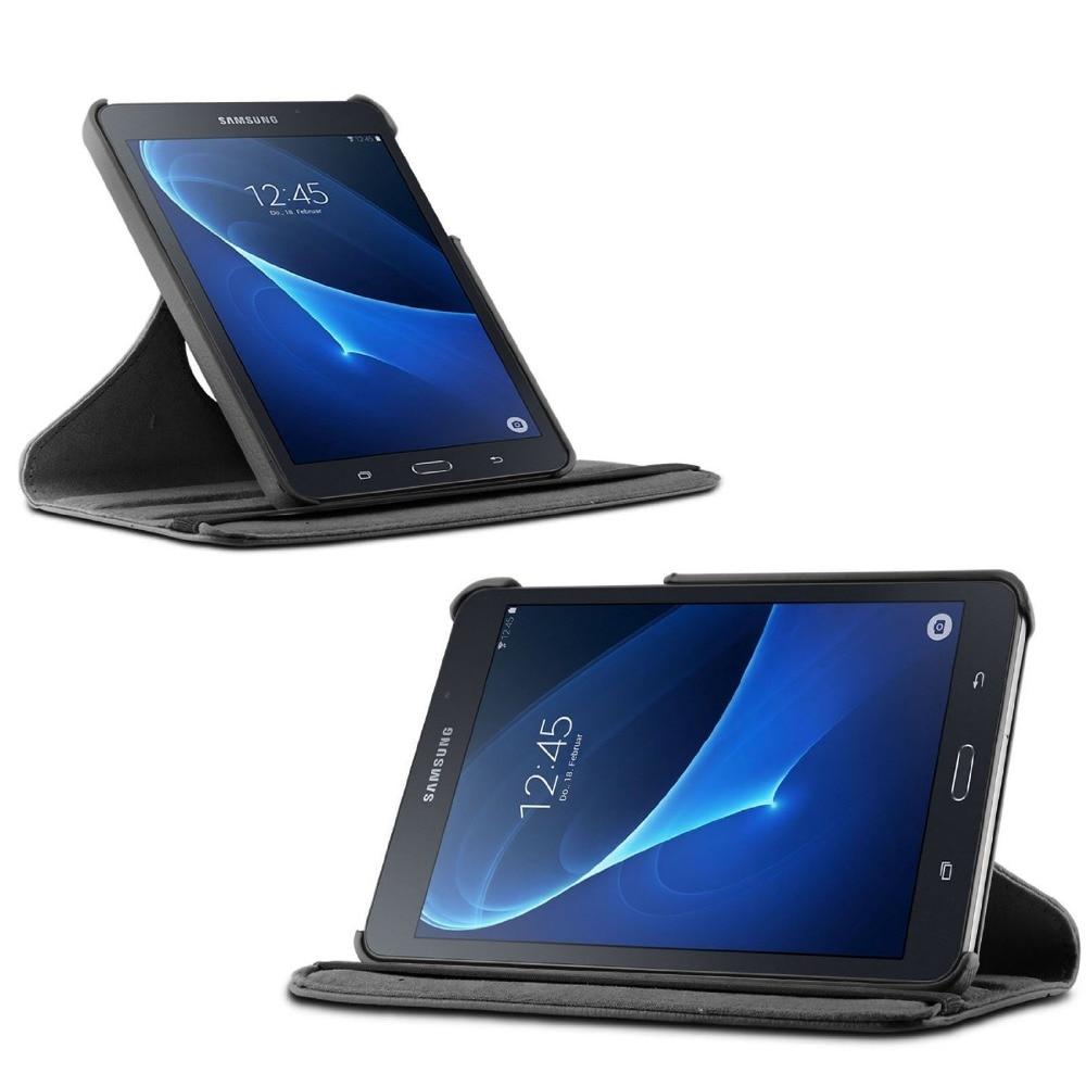 Nuevo 360 Rotación de la PU cubierta de la caja del soporte de cuero - Accesorios para tablets - foto 2