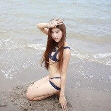 bandage Shoulders purplish blue Cosplay Bikinis