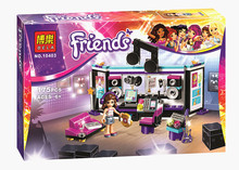 Bela 10403 Friends Gril Pop Star Music Recording Studio Compatible With Legoe Minifigures Bricks sets Building Block Toys