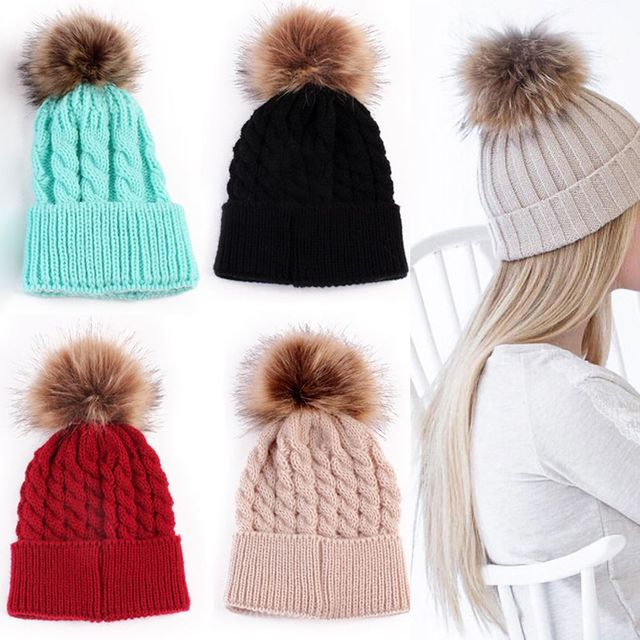 5a47e00928248 1Pc Fashion Candy Colors Mom or Baby Knitting Keep Warm Hat Women Winter Hat  Family Matching Outfits Mom Baby Hats-in Skullies   Beanies from Apparel ...