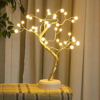 Portable LED Night Light Powered By AA Battery or USB Charger OPtion With Touch Sensor,Room Table Light,LED Shimmer Tree