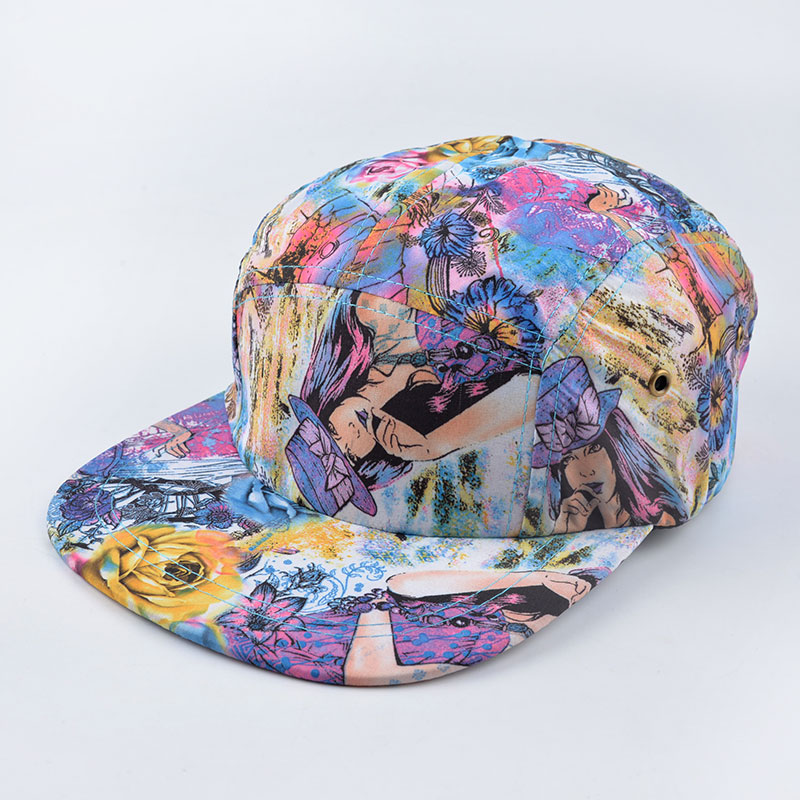 summer style Better quality 5 panel cap hat classic floral strapback bone five panel snapback gorro hip hop hats for men women dry fast breathable anti uv summer style diamond 5 panel cap hat strapback bone five panel snapback hip hop hats for men women