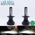 Car Ants LED Headlight H1 H3 H7 H8 H9 H10 H11 H16 9005 9006 9012 5202 12-24V Canbus Automotive Head lamp white 2pcs Bulbs