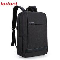 LEDANI USB Charging Men 15inch Laptop Backpacks For Teenager High Quality Waterproof Nylon Bags Business Men