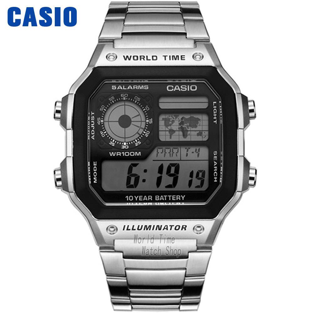 Casio Watch Waterproof Leisure Sports Men s Watch AE 1200WHD 1A AE 1200WHB 1B AE 1200WHB