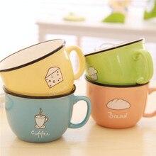 Verdicken Anti verbrühen Becher Kaffee Milch Zitronensaft Wasser Tassen Frühstück Nette Becher tasse Keramik Bottlees
