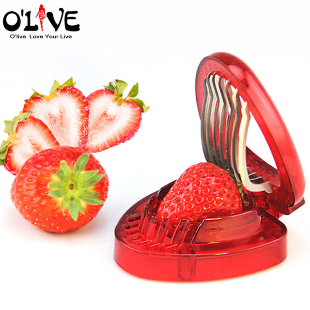 High Quality Strawberry Cutter Fruit Slicer Strawberry Knife Carving Tools Cake  Decoration Salad Kitchen Accessories Gadgets Cooking Tools