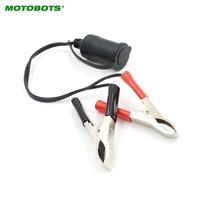 MOTOBOTS 10Set 12V Car Motorbike Tractor Boat Clip On Cigarette Lighter Socket Cable Adaptor AM2867