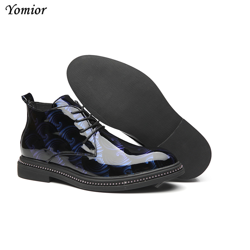 Yomior Autumn Winter Men Leather Boots British Fashion Pointed Toe Casual Shoes Platform High Quality Comfortable Ankle Boots - 5
