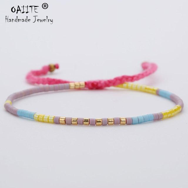 Oaiite Anese Miyuki Seed Beads Bracelet Handmade Lovely Por Love Lucky Bracelets Bangles For Women