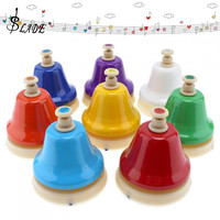 8 Note Beautiful Colorful Hand Bell Set Musical Instrument Musical Toy for Children Baby Early Education