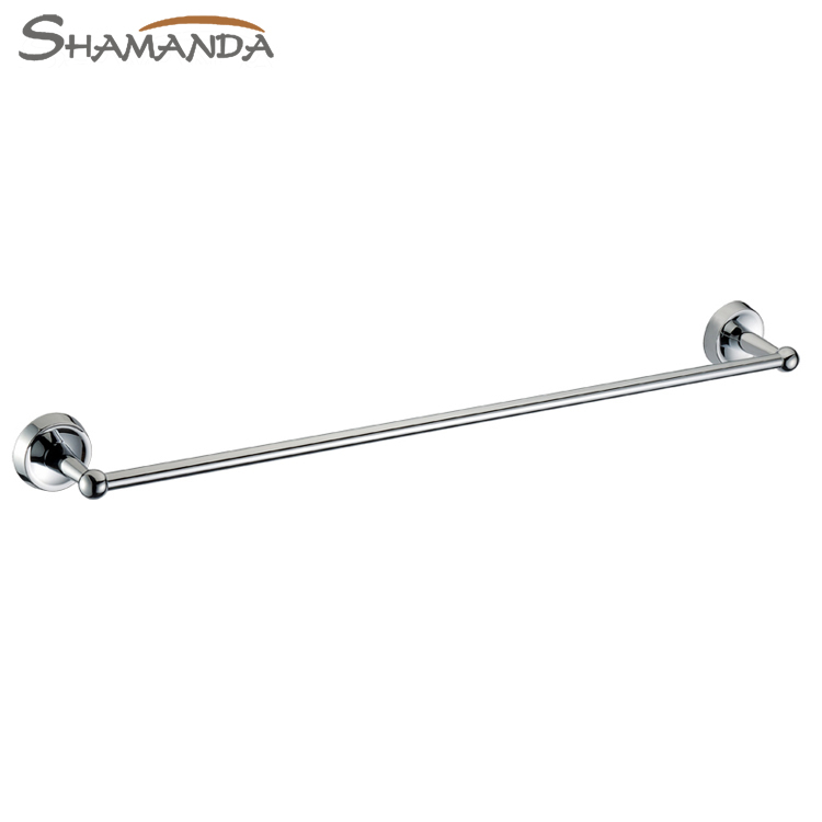 Free Shipping Bathroom Product Solid Brass Chrome (60cm)Single Towel Bar,Towel Holder,Towel Rack,Bathroom accessories-50010 free shipping bathroom products solid brass chrome single towel bar chrome towel holder towel rack bathroom accessories cs008d 2