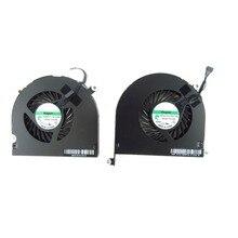 """ซ้ายและขวา CPU Cooling Cooler พัดลมสำหรับ Macbook Pro 17 """"A1297 2009 ~ 2012"""