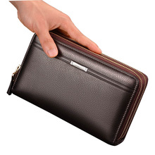 2017 Nya fanshion plånbok män Business Organizer plånbok portfölj Stor kapacitet multi-kort bit Designer hög kvalitet plånbok