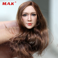 1/6 Scale Woman Head Sculpt SDH003 Black/Brown Curly Hair for 12 Pale Color Female Action Figure Accessories