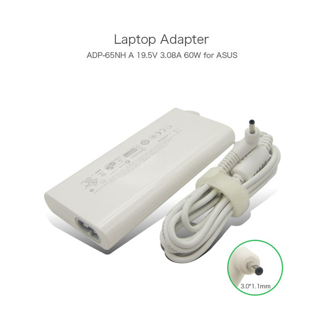 19.5V 3.08A 60W 3.0*1.1mm Laptop Power Supply for ASUS EP121 TF101 SL101 ADP-65NH A ADP-65NHA U1000EA Notebook AC Adapter