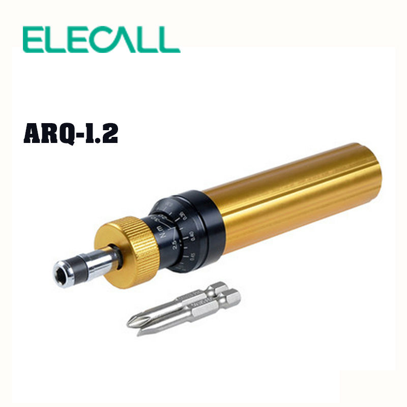 ELECALL ARQ-1.2 Torque Screwdriver With Phillips And Straight Screwdriver Precision  Screwdriver Set dv218 key shaped phillips screwdriver slotted screwdriver set silver 2pcs