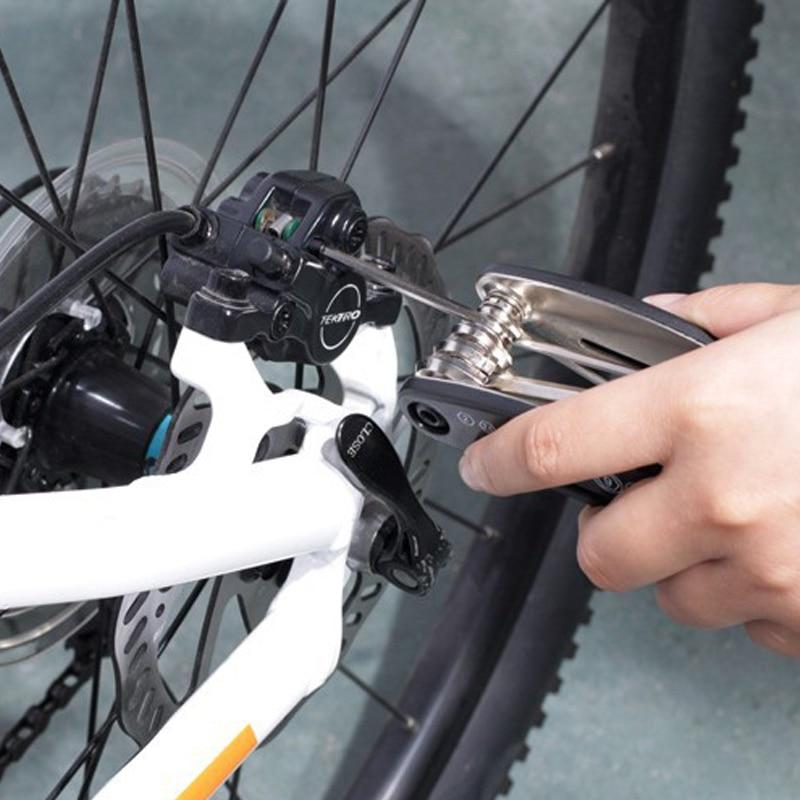Купить с кэшбэком 16 in 1 Bicycle Tools Sets Mountain Bike Bicycle Multi Repair Tool Kit Hex Spoke Wrench Mountain Cycle Screwdriver Tool
