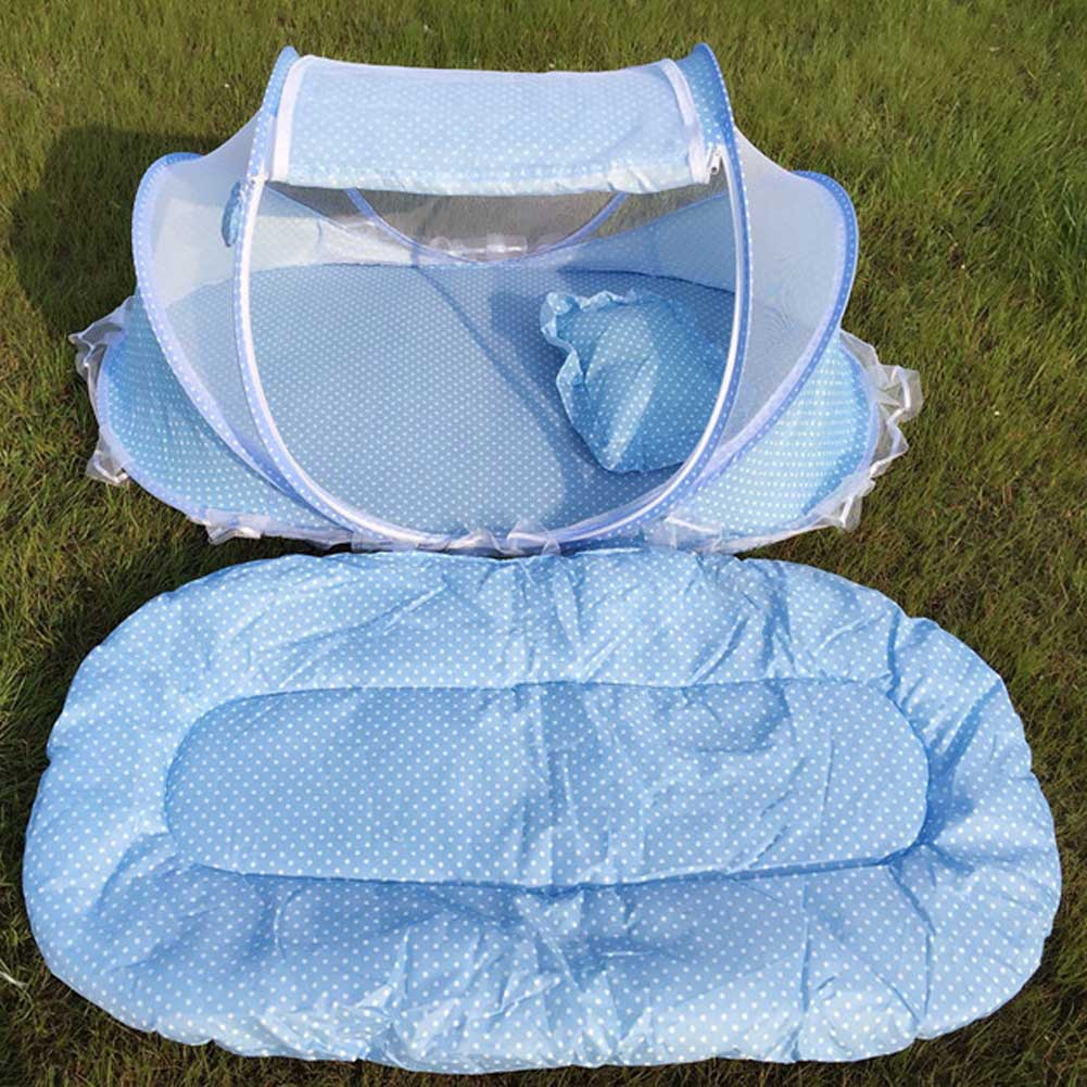 Portable Baby Crib Mosquito Net Tent Multi-Function Cradle Bed Infant Foldable Mesh Bed Cushion Girls Bed Kids Chidren Mattress