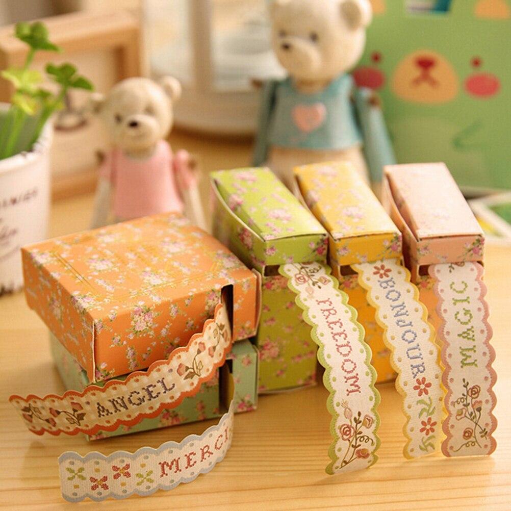 Scrapbook paper aliexpress - Pack Of 5 Diy Paper Sticky Adhesive Sticker Decorative Scrapbooking Tape Pink Green Orange Yellow Blue