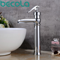 Becola New Design Solid Brass Basin Faucet Single Handle Antique And Black Finish Bathroom Tap Brushed