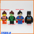 USB Flash Drive cartoon Batman Emmet Minifigure Avenger Captain America Green lantern memory stick pen drive USB 3.0 pendrive