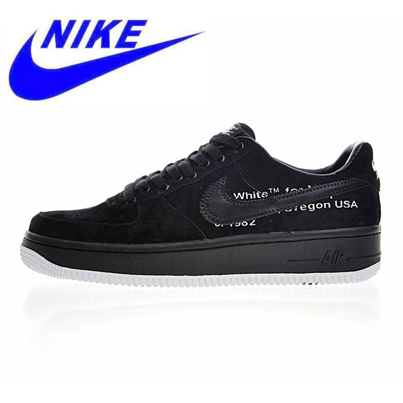 Nike OFF WHITE X AIR FORCE 1 07 OW AF1 Men s Skateboarding Shoes ... 77acfb9d8
