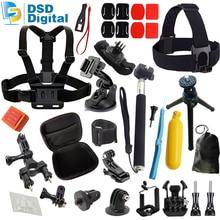 SAQN for 21 in 1 gopro camera accessories kit mini case Chest strap for gopro hero 5 4 3 session sjcam sj5000 sj4000 m20 07E