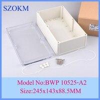 10 개/몫 ip68 방수 접합 상자 방수 접합 상자 전기 244x142x88.5mm