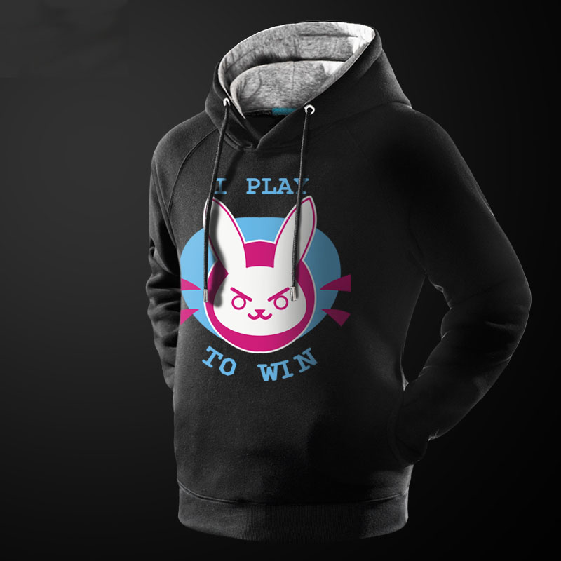 The Mccree Reaper DVA Hoodies For Young Boys Winter Thicker Game D.VA Sweatshirts For Fans Unisex 4XL
