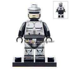 Custom Made Venda Única WM306 Robocop Plawres Sanshiro Mini Bonecas Building Blocks Brinquedos Crianças Presentes Drop Shipping(China)