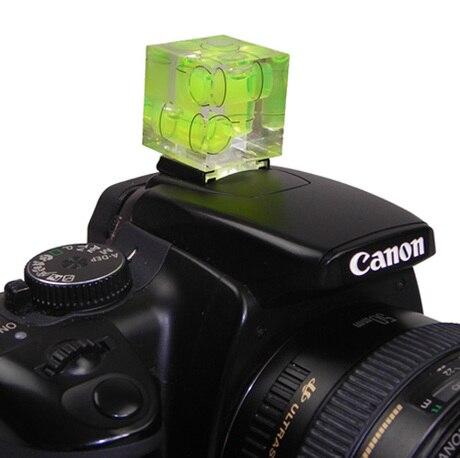 2pcs Triple 3 Axis Bubble Spirit Level on Camera Hot Shoe for Canon Nikon Pentax DSLR