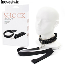 SM Sexy PU Leather Chain Collar With Leash Bdsm Bondage Fetish Erotica Necklace Adult Lingerie Sex Accessories For Woman Couple