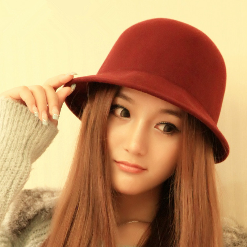 0c36c1da9f8 2016 Vintage Women Lady Cute Trendy Wool Felt Bowler Derby Fedora Hat Cap  Spring Hats Caps 9 Colors In Stock 20-in Fedoras from Apparel Accessories  on ...