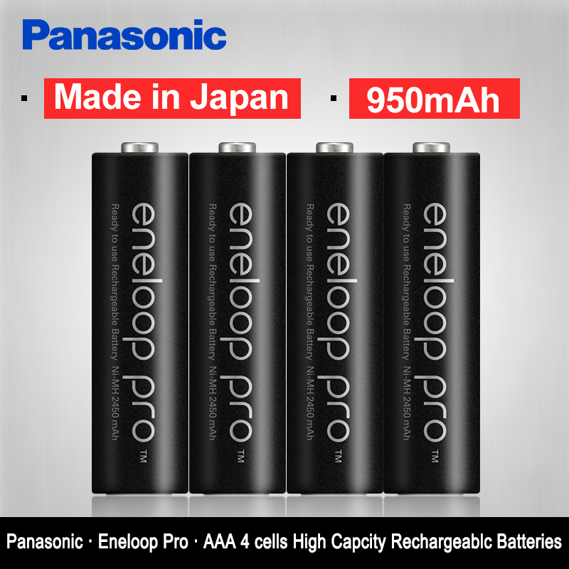 Panasonic pro High Capacity 950mAh 4pcs pack batteries Made in Japan Free Shipping NI MH Pre