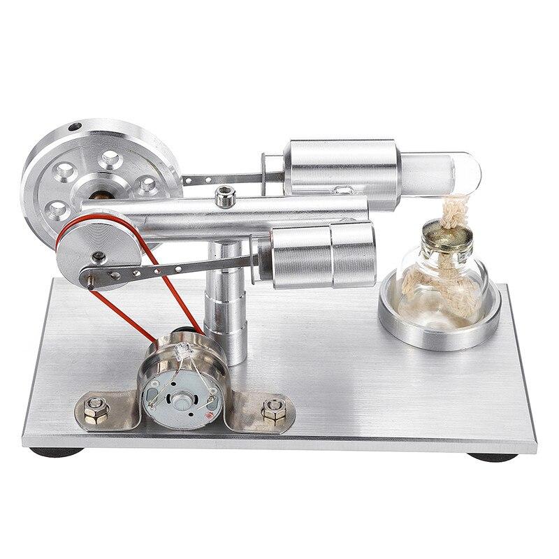 Modèle de moteur Stirling à Air chaud à Double cylindre avec démonstration de l'école légère Kit d'expérimentation scientifique de jouet éducatif pour enfant