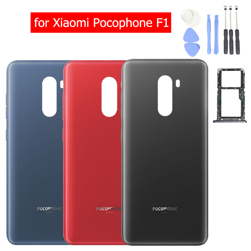 Tray-Holder Housing Back-Cover Battery Pocophone F1 Xiaomi Door-Card Repair-Spare-Parts