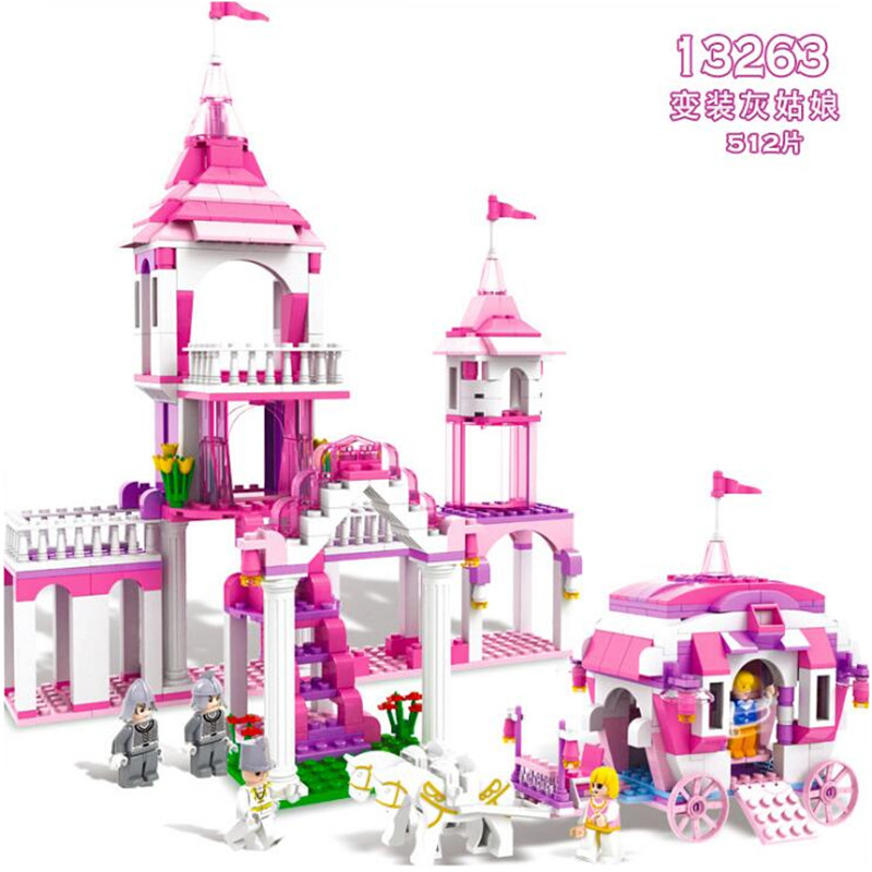 Toys & Hobbies Practical New Childrens Fun 512pcs Legoings Cinderella Into The Palace Model Building Blocks Kit Toys Girl Birthday Gifts Aromatic Character And Agreeable Taste